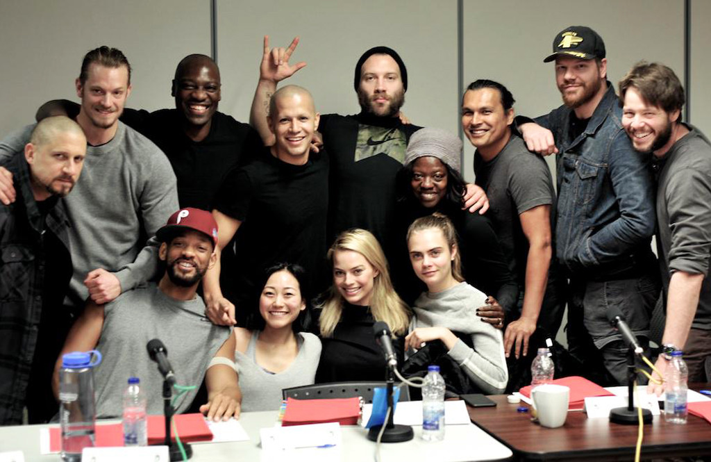 Cast of Suicide Squad except Jared Leto
